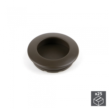 Pomo para mueble, D. 41 mm, Zamak, color moka, 25 ud.