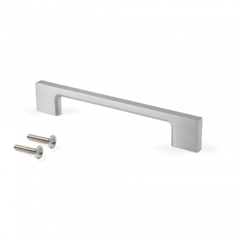 Tiradores para mueble, intereje 160 mm, Zamak, Niquel satinado