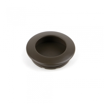 Pomo para mueble, D. 41 mm, Zamak, color moka