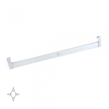 Barra para armario con luz LED, regulable 408-558 mm, 2,6 W-12V DC, sensor de movimiento, Luz Blanca natural, Aluminio, Anodizado mate