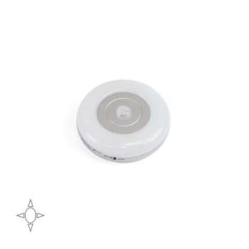 Aplique LED, recargable por USB, sensor de movimiento, Luz Blanca natural, Plástico, Gris metalizado