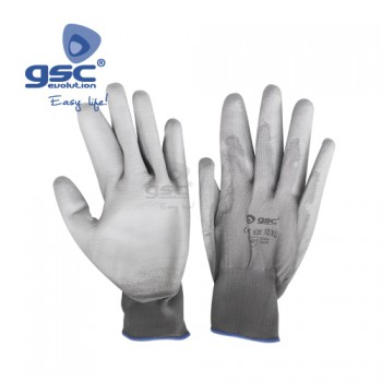 Guantes finos polyester + PU Ref. 3302067-3302068-3301869