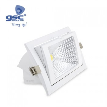 Downlight empotrable orientable LED COB (240x157x92mm) Ref. 000702130