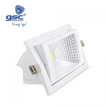 Downlight empotrable orientable LED COB (240x157x92mm) Ref. 000702131